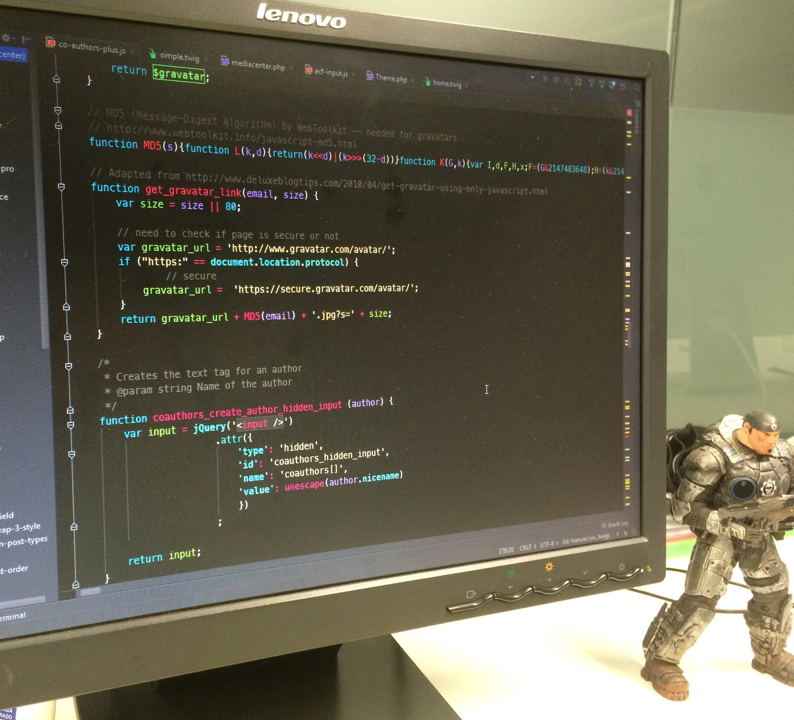 Imagen de proyecto en PHPStorm