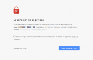 Error de seguridad al entrar al panel de WordPress