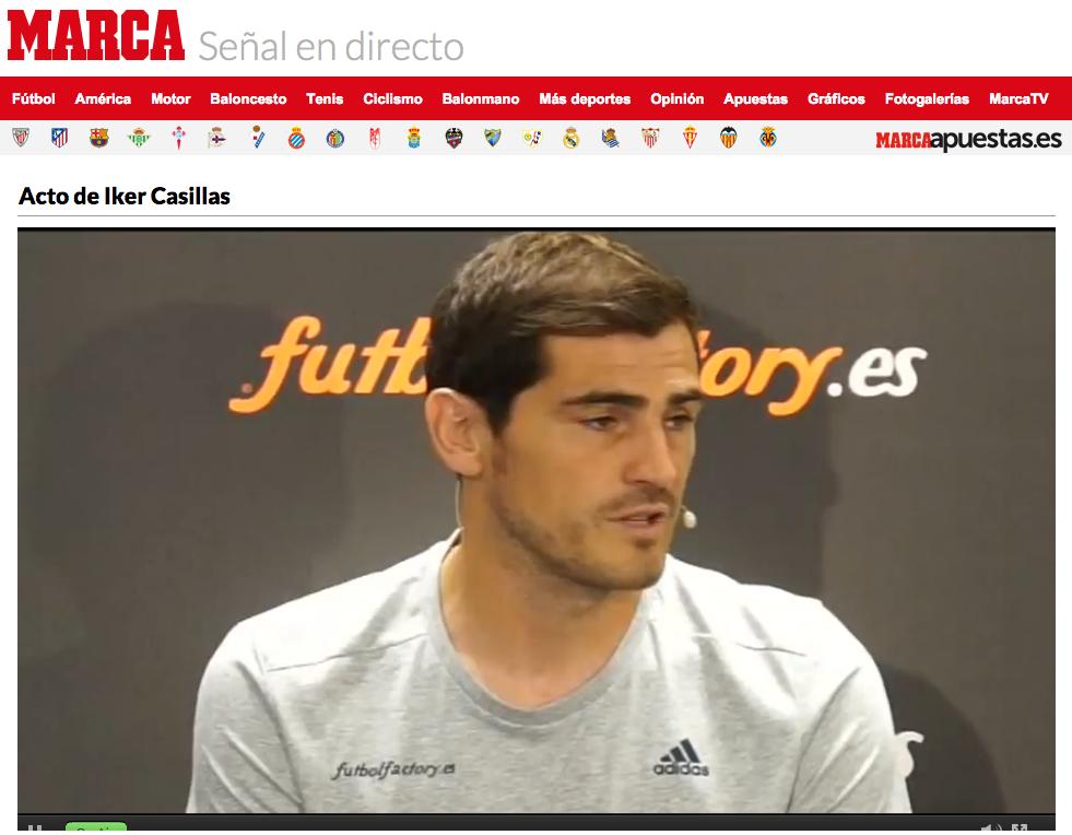 Iker Casillas y Fútbol Factory firman acuerdo