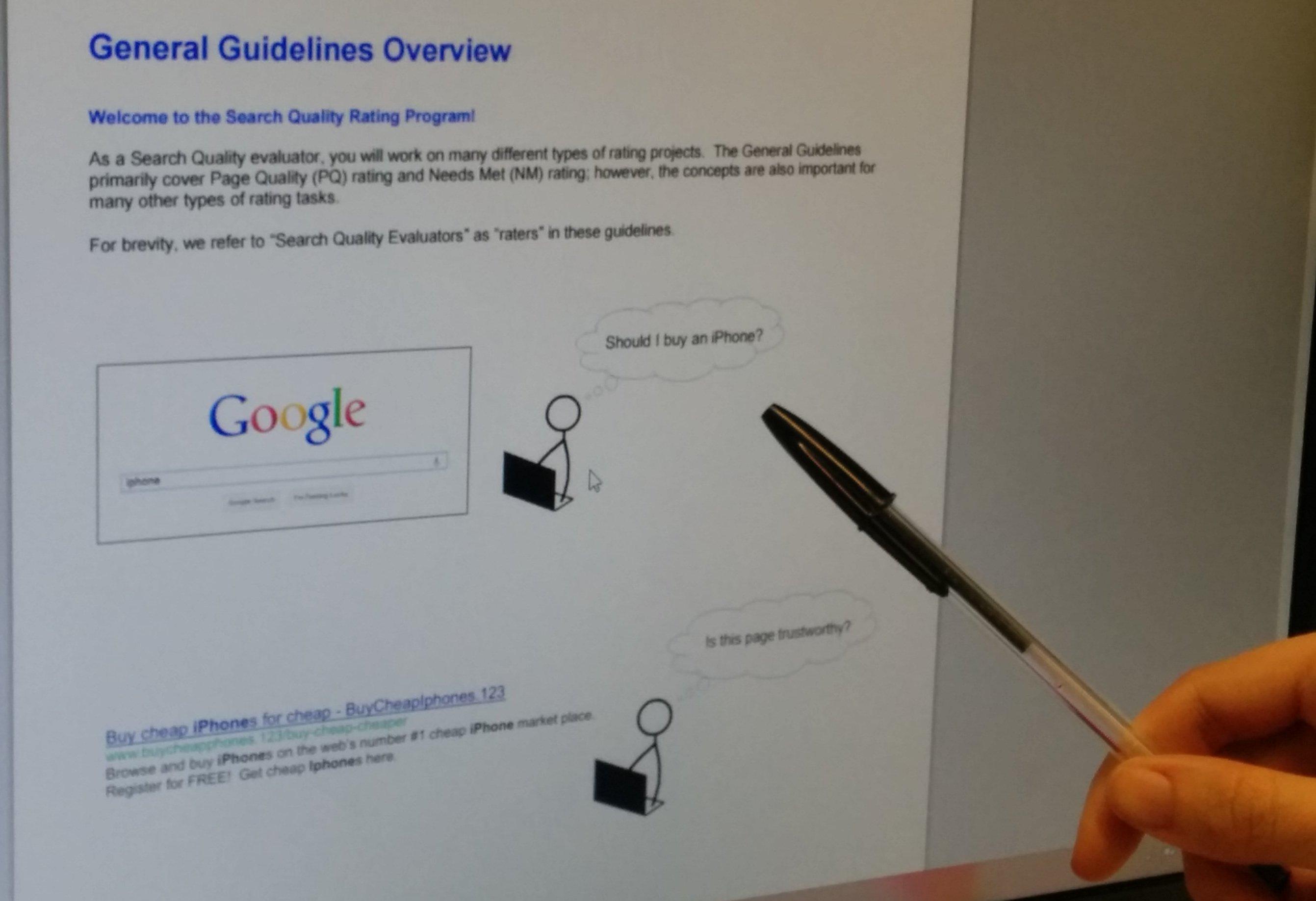 Nuevas pautas de calidad de búsquedas en Google