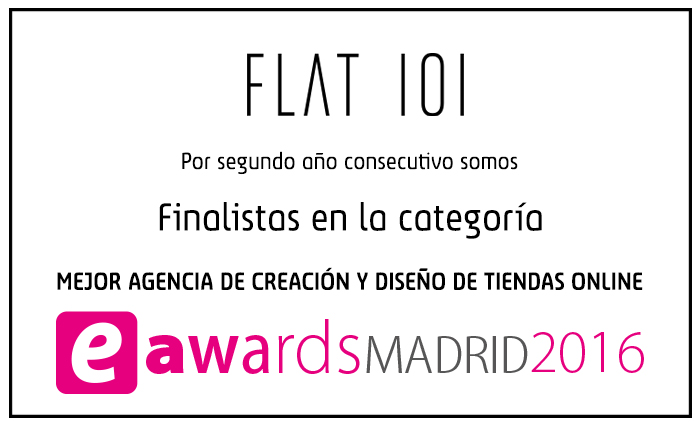Flat101 finalistas en eAwards Madrid 2016