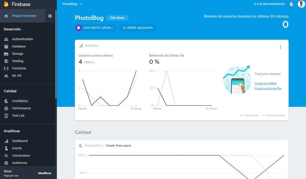 Firebase Google Analytics App