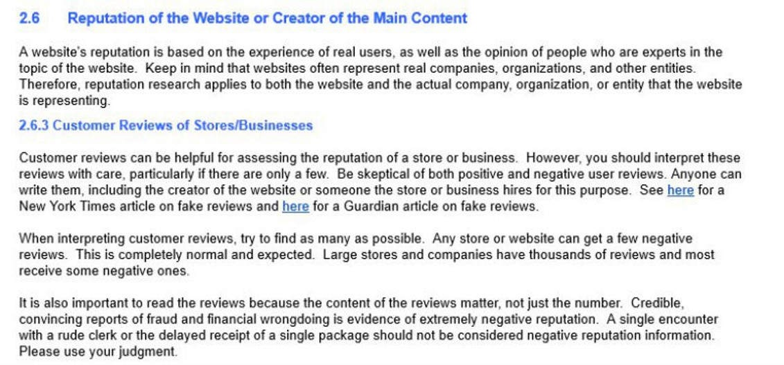 Reputación web: comentarios usuarios