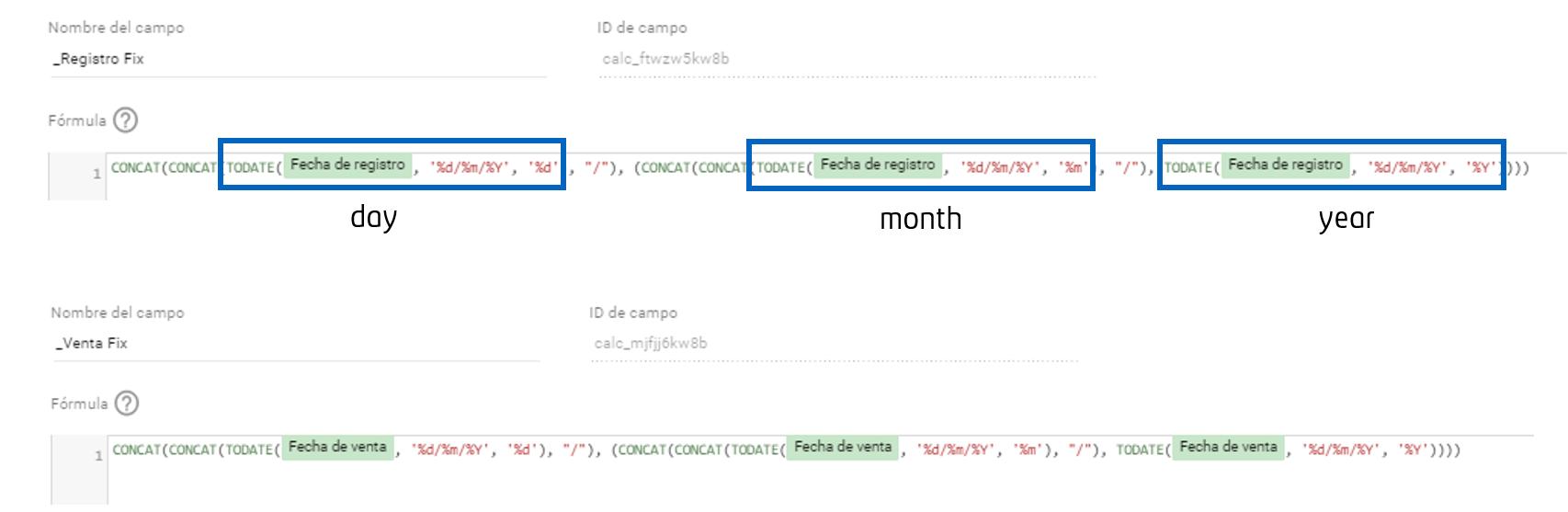 Ajustamos el formato de fecha a partir de una fecha dada