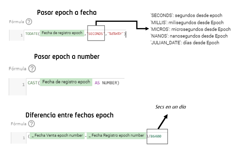 Operar con epoch en DataStudio
