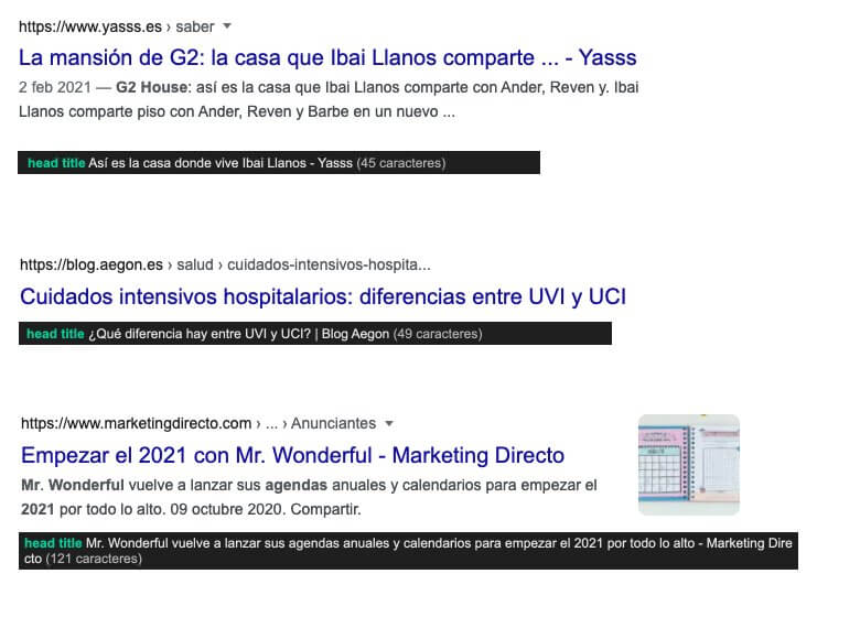 actualizacion google cambio de títulos